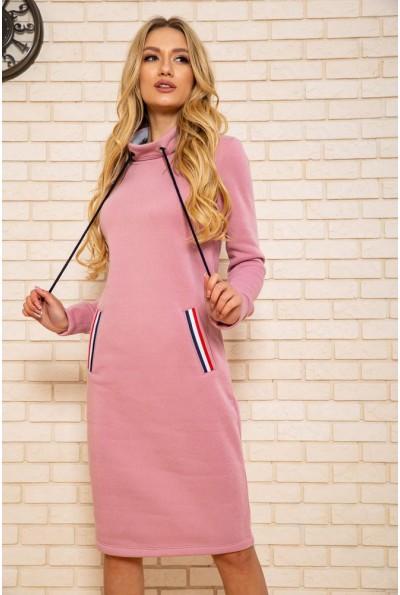 Платье женское на флисе 102R138 цвет Пудрово-серый