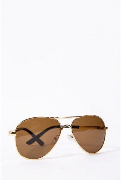 Очки женские солнцезащитные Авиатор цвет Коричневый 154R9919 52659