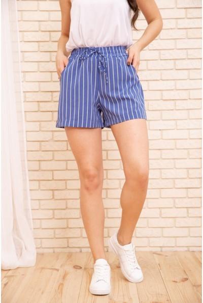 Женские шорты в полоску с пояском цвет Голубой 172R007 55782