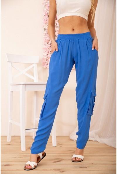 Летние женские брюки карго на резинке цвет Электрик 172R14-2 54906