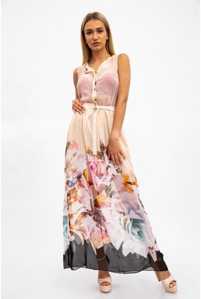 Платье женкое 115R306 цвет Светло-персиковый
