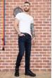Темно-синие мужские джинсы 171R006 недорого