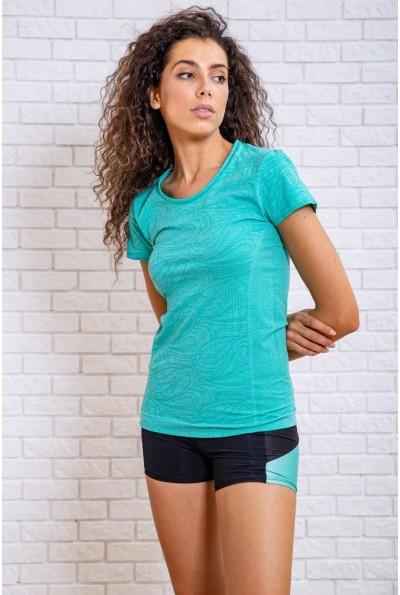 Женская футболка для занятий спортом мятная 117R120 27740