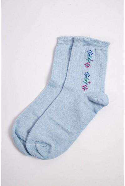Носки женские 151R017-2 цвет Голубой 49219