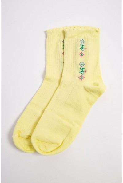 Носки женские 151R017-2 цвет Желтый 49221