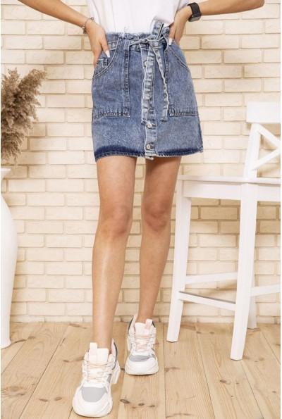 Синяя джинсовая юбка с поясом 129R02958-1 49535