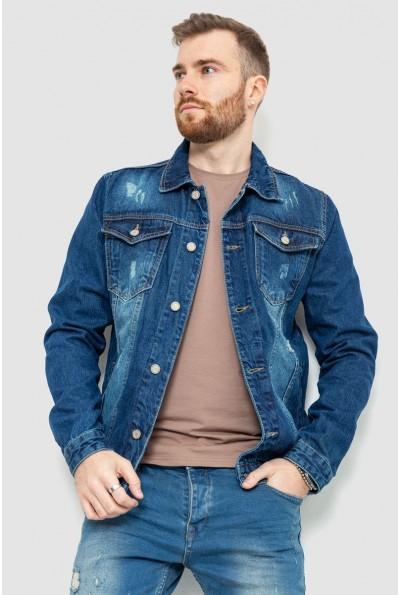 Джинсовая куртка мужская 157R0061 цвет Синий