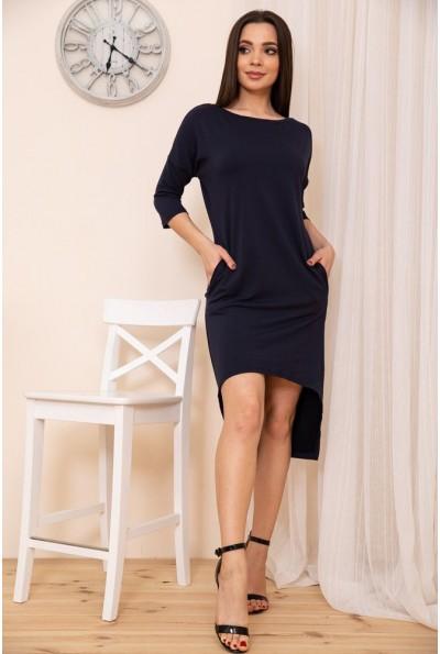 Прямое платье с карманами цвет Синий 167R27-3