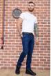 Джинсы мужские на флисе  цвет темно-синий 129R2106 недорого