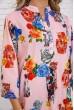 Летняя блузка женская из вискозы с цветами цвет Пудровый 172R806 скидка