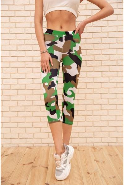 Бриджи женские 172R002-1 цвет Зеленый-белый