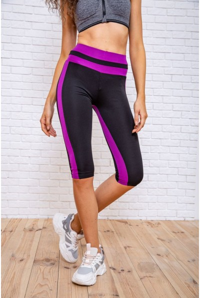 Велотреки женcкие 172R043 цвет Черно-фиолетовый 62466