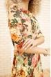 Платье женское с цветочным принтом цвет Темно-бежевый 167R86 цена 699.0000 грн