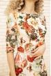 Платье женское с цветочным принтом цвет Бежевый 167R86 скидка