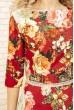 Платье женское с цветочным принтом цвет Красный 167R86 цена 699.0000 грн
