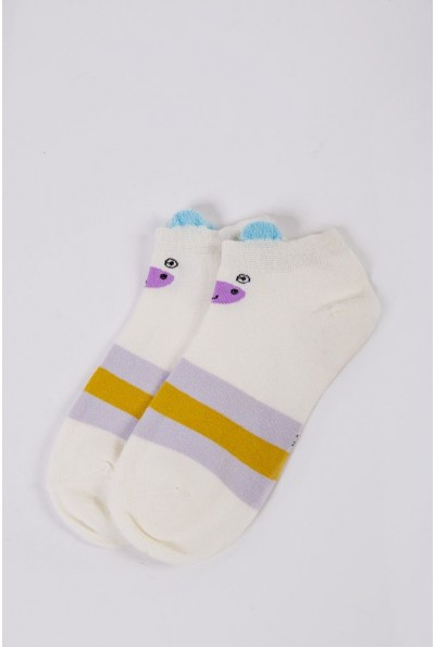 Носки женские короткие  151R2208-2 цвет Молочно-горчичный 54498
