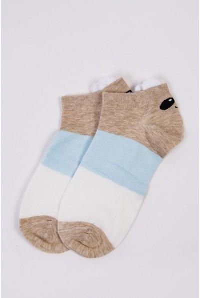 Носки женские короткие  151R2208-2 цвет Бежево-голубой 54490