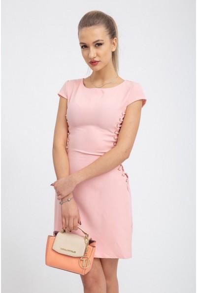 Платье женское однотонное 104R013 цвет Персиковый
