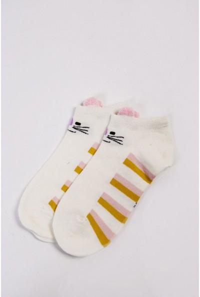 Носки женские короткие  151R2208-2 цвет Молочно-розовый 54504