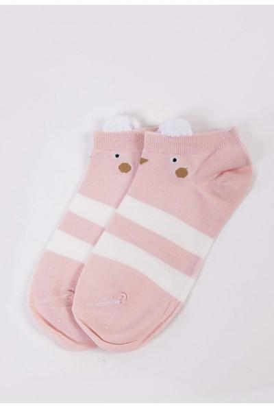 Носки женские короткие  151R2208-2 цвет Розово-белый 54516