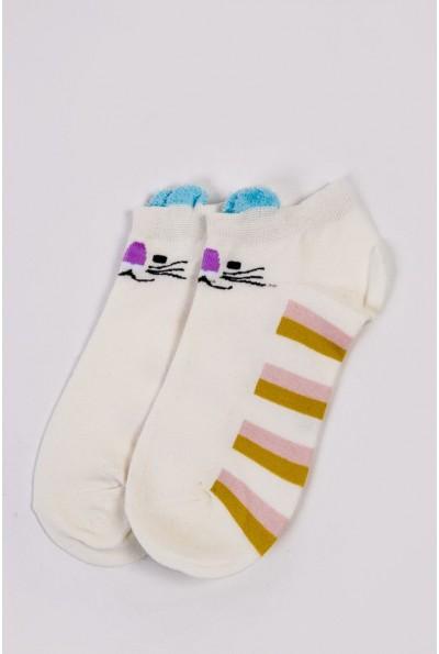 Носки женские короткие  151R2208-2 цвет Молочно-голубой