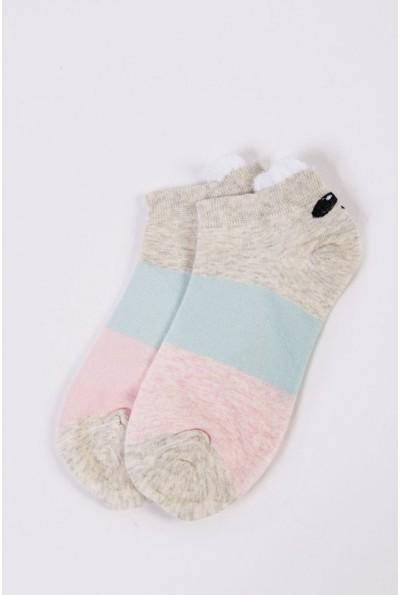 Носки женские короткие  151R2208-2 цвет Серо-розовый 54528