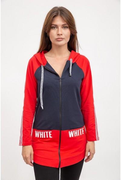 Спорт кофта женская 119R400 цвет Сине-красный