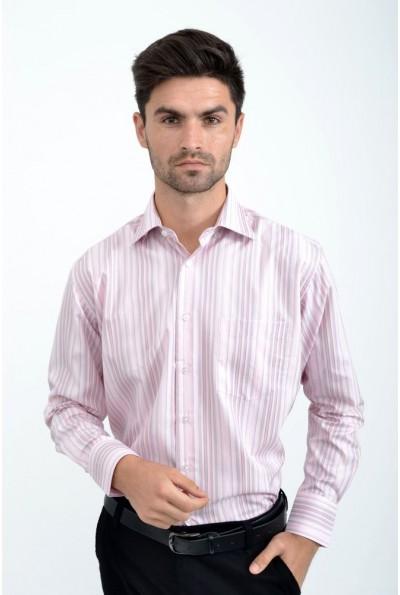 Рубашка мужская  светло-розовая с длинными рукавами 9021-13