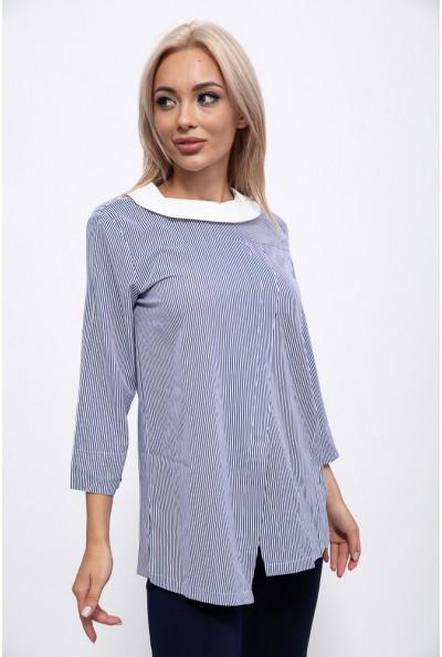 Блуза женская 115R2891-1 цвет Сине-белый