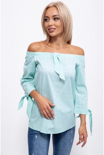 Блузка 115R208-7S цвет Мятно-белый