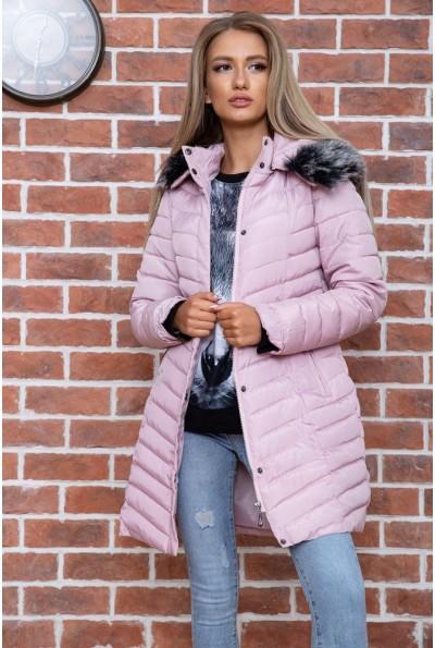 Куртка женская демисезонная  цвет пудровый 129R2662-3 66546