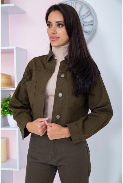 Джинсовая куртка женcкая  цвет хаки 164R5300 66956