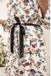 Платье женское с поясом с цветочным принтом цвет Белый 115R396-4 цена 959.0000 грн