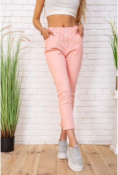 Легкие хлопковые женские штаны цвет Персиковый 129R0202-3 57348