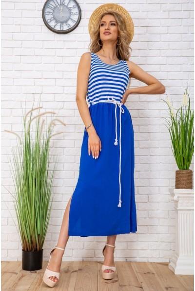Летнее платье в морском стиле в полоску цвет Сине-белый 102R196 57074