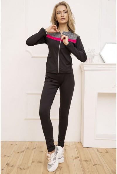 Спортивный костюм женский  цвет черно-малиновый 131R130661 53277