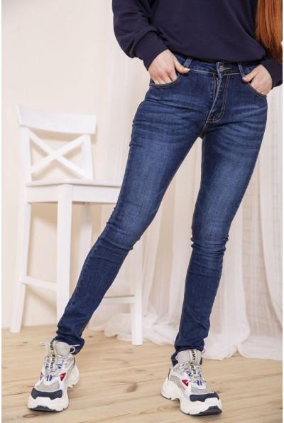 Женские джинсы скинни синего цвета 129R603