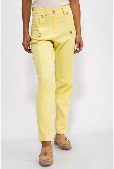 Брюки женские 150R099 цвет Желтый