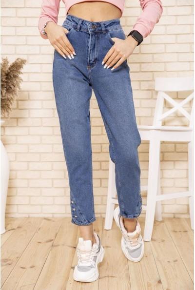 Свободные джинсы со звездами синего цвета женские 164R9029 49605