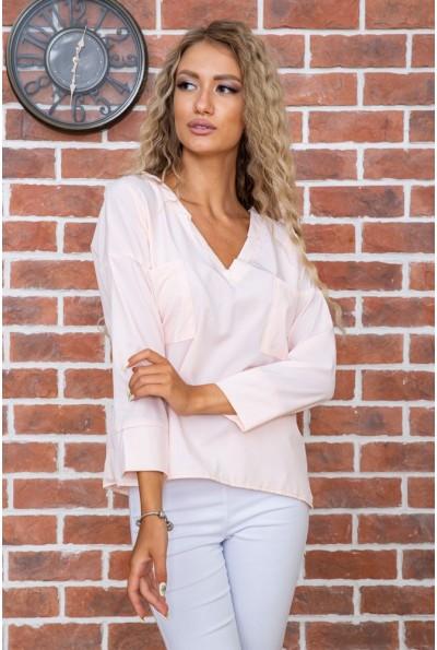 Персиковая классическая блузка 177R010 63513