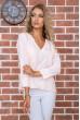 Купить Персиковая классическая блузка 177R010 63513