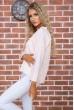 Персиковая классическая блузка 177R010 цена 479.0000 грн