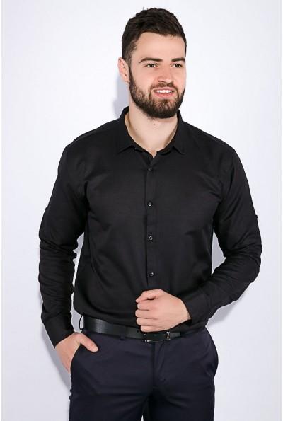 Черная мужская рубашка из хлопка 511F011