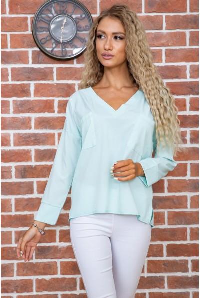 Мятная классическая блузка 177R010 63511