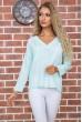 Купить Мятная классическая блузка 177R010 63511