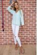 Мятная классическая блузка 177R010 недорого
