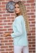 Мятная классическая блузка 177R010 скидка
