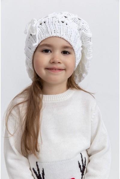 Шапка детская 126R007 цвет Белый