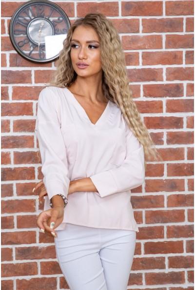 Бежевая классическая блузка 177R010 63505