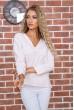 Купить Бежевая классическая блузка 177R010 63505
